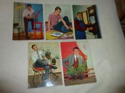 LOT DE 5 CARTES HOMMES ACTIFS.. - Cartes Postales