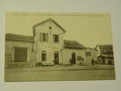 ISERE-LE TOUVET-2670-LA GARE DU TRAMWAY ET L'HOTEL DE LA GARE ED L GRIMAL ANIMEE CACHET MAIRIE - France