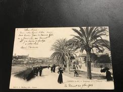 512 - CANNES Boulevard De La Croisette - 1903 Timbrée - Cannes