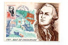 1781-Baie De Chesapeake -Amiral De GRASSE -voir état - FDC