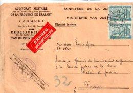 Affranchissement Avec Timbres Belgique -1943 -voir état - Belgique