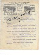 79 - Deux-sèvres - NIORT - Facture BARRE - Cycles - Automobiles - 1920 - REF 81D - 1900 – 1949