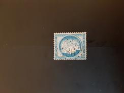 N°60C, 25 Cts  Bleu, GC 4486, Bourg De Bigorre, Hautes Pyrénées. - Marcophily (detached Stamps)