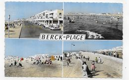 BERCK PLAGE EN 1964 - MULTIVUES AVEC CITROEN DS - FORMAT CPA VOYAGEE - Berck