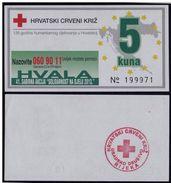 CROATIA 5 Kuna 2013 UNC Red Cross Coupon - Croatie