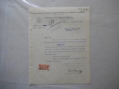 FOURMIES SOCIETE DES FILATURES DE LAINES PEIGNEES DE LA REGION DE FOURMIES PRESIDENT PAUL MARIAGE COURRIER DU 19/10/1920 - France