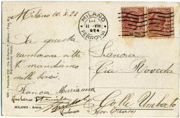 ANNULLO POSTALE MECCANICO A ONDE Con Lettera R  11.8.1924  Su Cartolina Arena Di Milano - Storia Postale