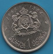 MAROC 1 DIRHAM 1965 - 1384 KM# 56 Hassan II - Morocco
