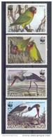 Neh208s WWF FAUNA VOGELS OOIEVAAR BIRDS STORK LOVEBIRD VÖGEL AVES OISEAUX ZAMBIA 1996 PF/MNH - W.W.F.