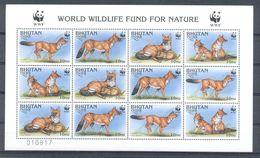Neh217MSb WWF FAUNA ZOOGDIEREN WILDE HOND DHOLE Cuon Alpinus WILD DOG MAMMALS BHUTAN 1997 PF/MNH - W.W.F.