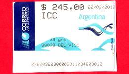 ARGENTINA - Usato - 2016 - ATM - Correo Argentino - Del Viso - 245.00 - Affrancature Meccaniche/Frama