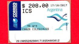 ARGENTINA - Usato - 2017 - ATM - Correo Argentino - Colegiales - 208.00 - Affrancature Meccaniche/Frama