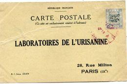 PALESTINE CARTE POSTALE BON POUR UN FLACON ECHANTILLON D'URISANINE DEPART AMMAN ?-?-? POUR LA FRANCE - Palestine