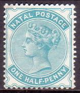 SOUTH AFRICA NATAL 1880 SG #96 ½d MNG Wmk Cown CC CV £28 - South Africa (...-1961)