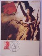 FRANCE CARTE MAXIMUM. 1988 YVERT 2530 LIBERTÉ ECU - Maximumkaarten