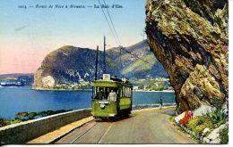 N°60525 -cpa Route De Nice à Monaco -le Tramway- - Cartes Postales