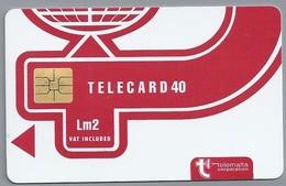 MT.- Telefoonkaart.- MALTA. Telemalta Corporation. TELECARD 40. Lm3. Vat Included. Logo New Design. 2 Scans - Malta