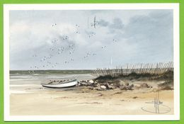 La Barque - Aquarelle De Stéphane LAURO - Paintings