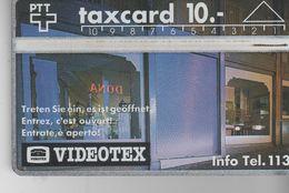 SUISSE - Taxcard 10 - VIDEOTEX - Schweiz