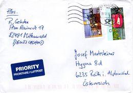 Auslands - Brief Von Briefzentrum 82 Mit 145 Cent + 10 Cent Automatenmarke 2017 - BRD