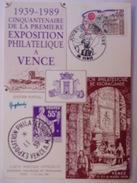 FRANCE CARTE MAXIMUM. 1989 YVERT 2567 PERSONNAGES DE LA RÉVOLUTION VENCE - Maximum Cards
