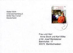 Brief Von 94336 Hunderdorf Mit 70 Cent Jan Vermeer 2017 - BRD