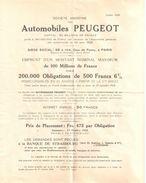 4304 Automobiles PEUGEOT Documentation Annonce EMPRUNT Ooctobre 1928 - Other
