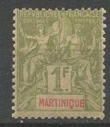 MARTINIQUE N° 43 NEUF*  CHARNIERE TB  / MH - Martinique (1886-1947)