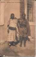 SOLDATO LIBICO COLL'AMANTE CPA VOYAGEE 1915 A LAGNASCO CUNEO PIEMONTE RARISIME VOIR SCANS - Libië