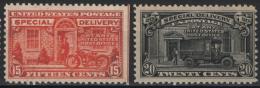 Stati Uniti 1925 Espressi Unif.E13/14 */MLH VF/F - Special Delivery, Registration & Certified