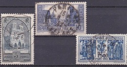 1929 - 1931 - LOT FRANCE Oblitérés -  Cathédrale De Reims YT259, Port De La Rochelle YT261 Et Exposition Coloniale YT274 - Stamps
