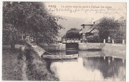 Mery: La Pêche à L' écluse Ste-Anne. Erster Weltkrieg, 1914. - Esneux