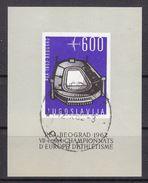 BLOC FEUILLET ,MICHEL NUM 1024 -OBL - CHAMPIONATS D'EUROPE D'ATHLETISME 1962 - COTE 20 EURO - 1945-1992 République Fédérative Populaire De Yougoslavie