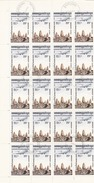 1984  Cambodge Kampuchea - YT PA 32/35 - Série Complète En Blocs De 20 - Avion Survolant Les Ruines D'Angkor, 80 Timbres - Stamps