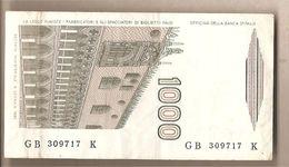 """Italia - Banconota Circolata Da £ 1000 """"Marco Polo"""" Suffisso """"B"""" - 1983 - [ 2] 1946-… : Républic"""