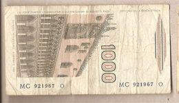"""Italia - Banconota Circolata Da £ 1000 """"Marco Polo"""" Suffisso """"C"""" - 1984 - [ 2] 1946-… : Républic"""