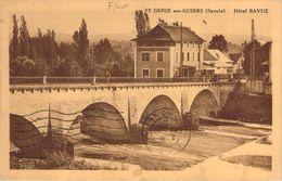 TOP CPA Saint-Genix-sur-Guiers Hotel Bavuz (animée) P74 - Autres Communes