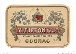 Etiquette  De  Cognac   -  Tiffon        7.1 X 10.9 Cm - Labels