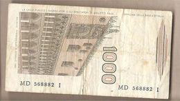"Italia - Banconota Circolata Da £ 1000 ""Marco Polo"" Suffisso ""D"" P-109a - 1985 - [ 2] 1946-… : République"