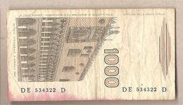 """Italia - Banconota Circolata Da £ 1000 """"Marco Polo"""" Suffisso """"E"""" - 1988 - [ 2] 1946-… : Républic"""
