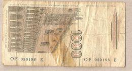 """Italia - Banconota Circolata Da £ 1000 """"Marco Polo"""" Suffisso """"F"""" - 1988 - [ 2] 1946-… : Républic"""