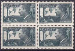 1937 - France - JEAN MERMOZ - 30 Centimes Vert - YT 337 - Bloc De 4 -  ++ MNH Scans Recto Et Verso - Stamps