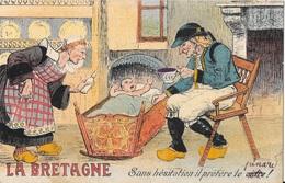 """Belle Carte Fantaisie  """" La BRETAGNE """"  Sans Hésitation Il Préfère Le Cidre - Humour"""