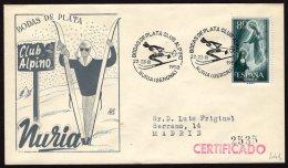 España 1958 SOBRE - Matasello Especial. Bodas De Plata Club Alpino. NURIA Gerona - 1931-Hoy: 2ª República - ... Juan Carlos I