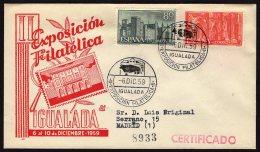 España 1959 SOBRE - Matasello Especial. II Exposición Filatélica. IGUALADA - 1931-Hoy: 2ª República - ... Juan Carlos I