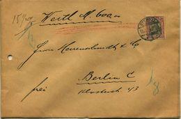 ENV 3 - Allemagne   :  Brief Geladen - LETTRE CHARGEE  : De  STENDAL   à  ...1906  - 1 Timbres 50 DEUTSCHES REICH ROUGE - Deutschland