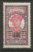 MARTINIQUE N° 86 NEUF*  CHARNIERE TB  / MH - Martinique (1886-1947)