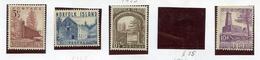 1953 - NORFOLK ISLAND - Mi. Nr. 15+17/19 - NH -  (UP.70.3) - Isola Norfolk