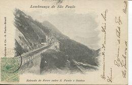 Lembranca De Sao Paulo - Estrada De Ferro Entre S. Paulo E Santos 1904 (002702) - São Paulo