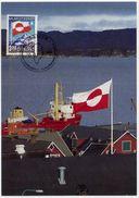 GREENLAND 1989 Internal Autonomy 3.20 Kr.on Maximum Card.  Michel 195 - Maximum Cards